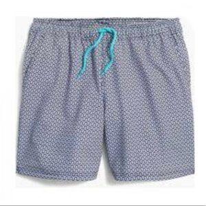 """J. CREW Flex Swimwear 6"""" Trunk Board Short sz L"""